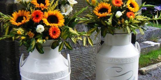 Idées déco #35 pour décorer avec des vieux pots de lait - 5