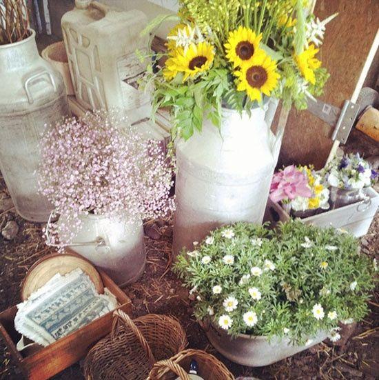 Idées déco #35 pour décorer avec des vieux pots de lait - 7
