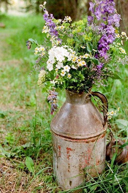 Idées déco #35 pour décorer avec des vieux pots de lait - 2