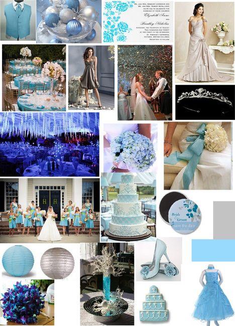 Le club du mariage bleu et gris