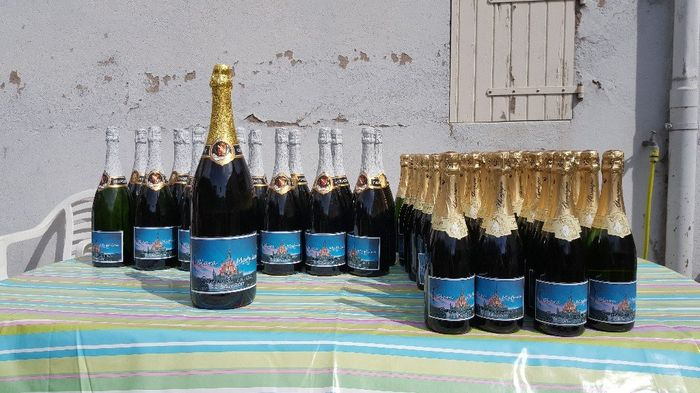Tuto étiquette bouteille en verre diy (ici champagne) 1