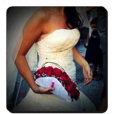 pochette bouquet de la mariée