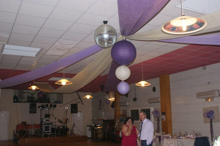 merci du conseil se sont des tentures violettes ou parme que tu as mis - Tenture Plafond Mariage