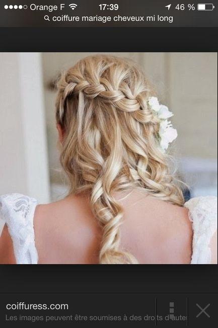 Cherche coiffure pour robe bustier (pas chignon traditionnel)? - 2
