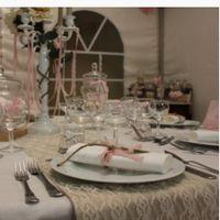 Déco de table rose et blanche - 1