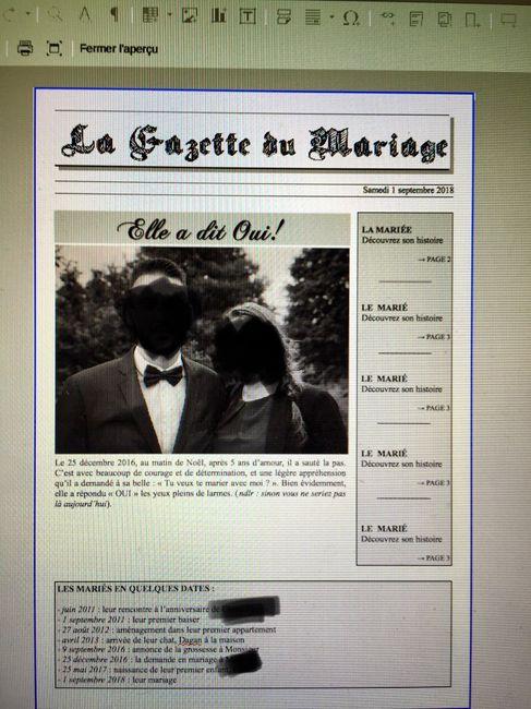 Gazette des mariés - Organisation du mariage - Forum ...
