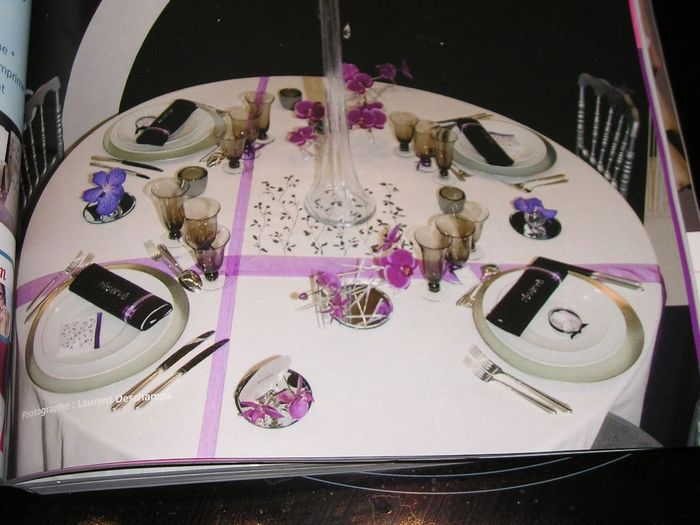 Doutes chemins de table ou set de table couleur de ceux ci d coration - Chemin de table pour table ronde ...