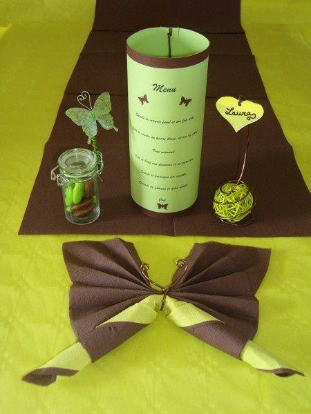 Contenant drag es bonbons 1 d coration forum - Decoration de table theme papillon ...