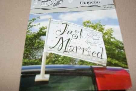 Pour la voiture des Mariés !!!