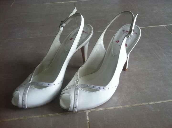 Mes escarpins blancs enfin trouvés !!!