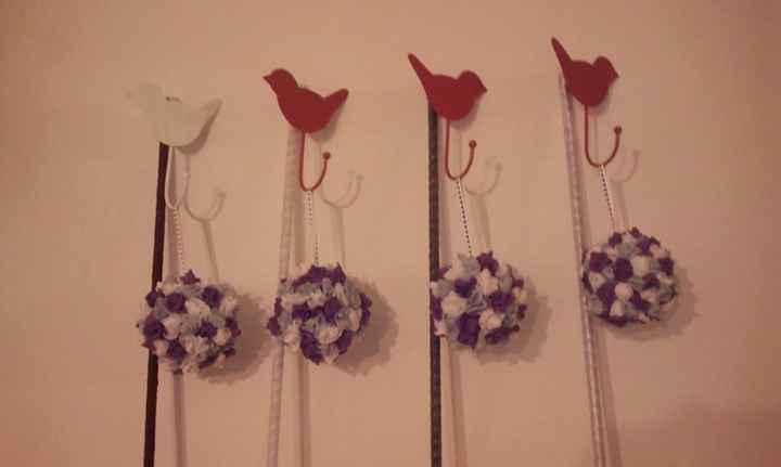 crochets et boules de fleur