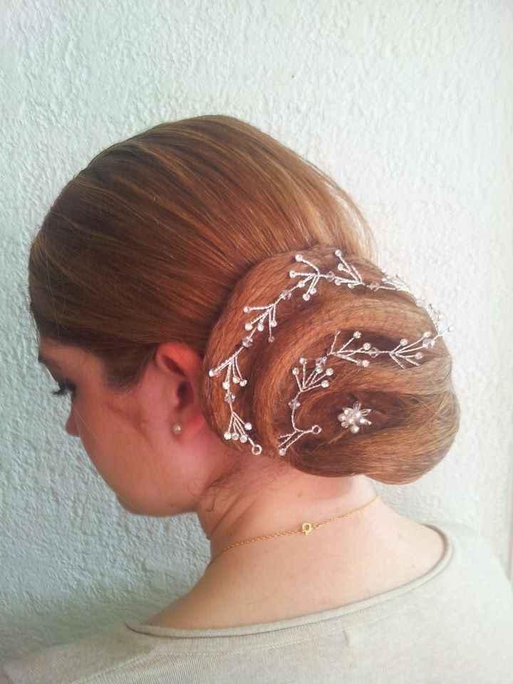 Essai coiffure - chignon 1