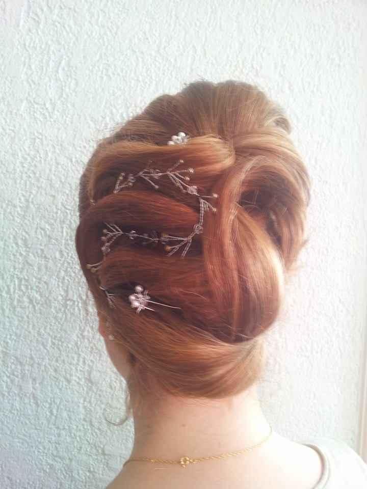 Essai coiffure - chignon 2
