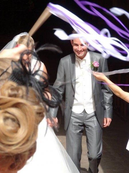 Les baguettes rubans de mon mariage