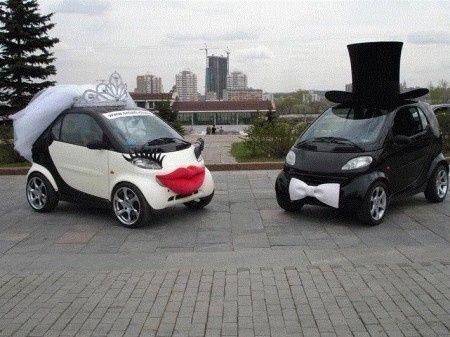 Déco voitures des mariés