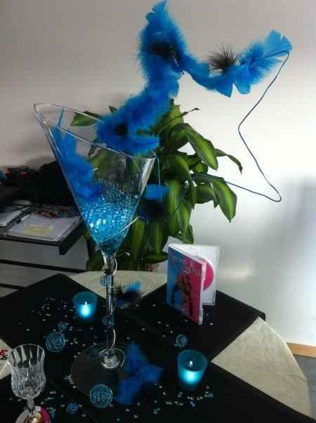 Décoration vase martini