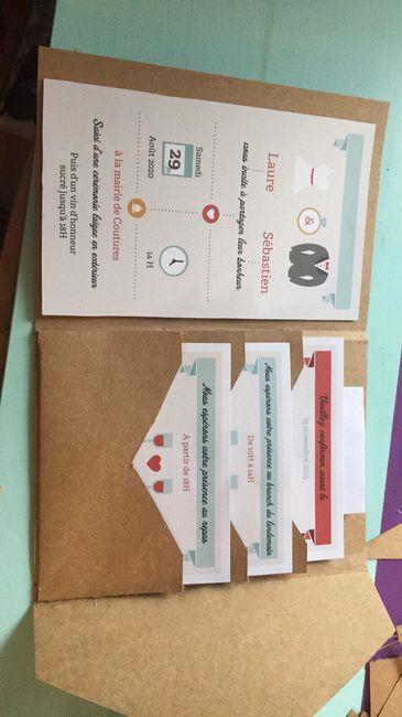 Faire-part différents ou cartons supplémentaires pour le repas : à vos photos s'il vous plaît - 1