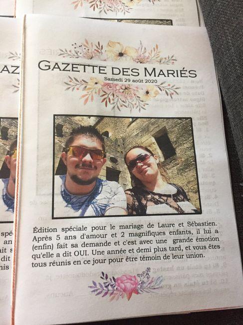 Avancée du week-end : gazette des mariés et étiquettes de chaise - 2