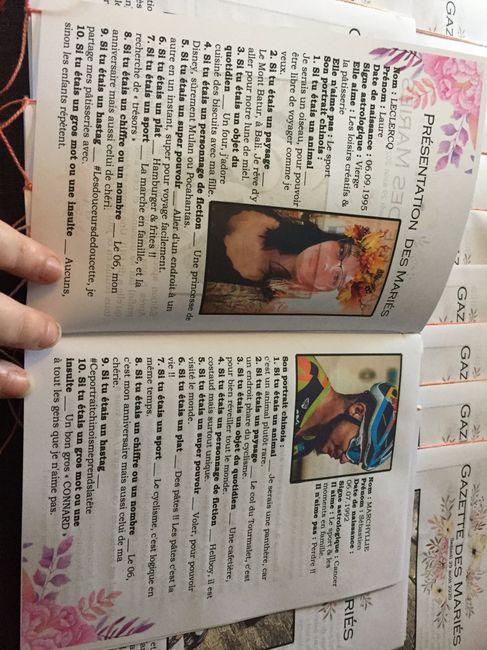 Avancée du week-end : gazette des mariés et étiquettes de chaise - 1