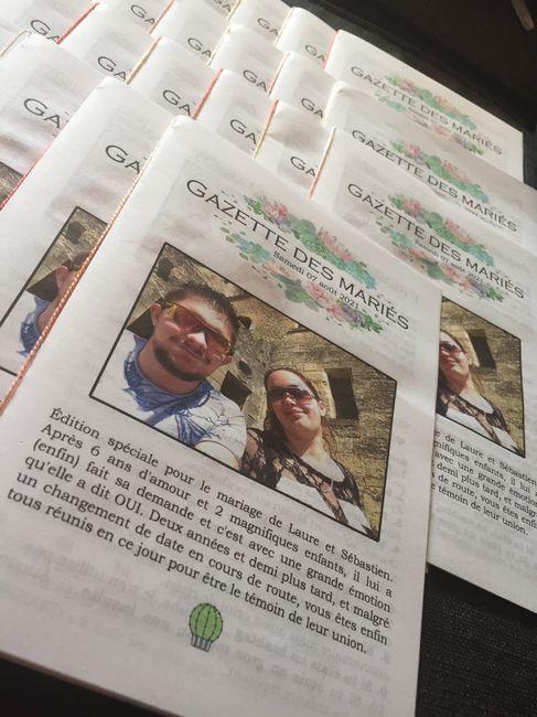 Gazettes des mariés «à jour» 2