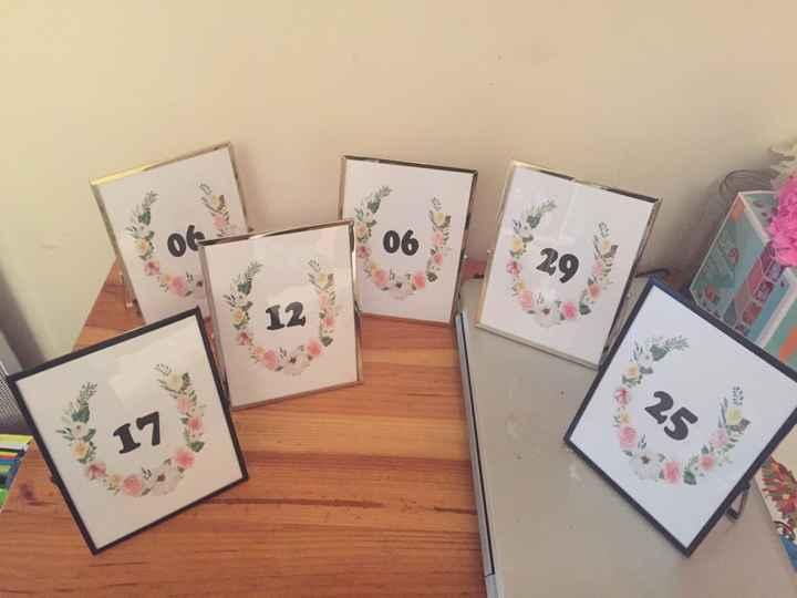 Numéros de tables - 1