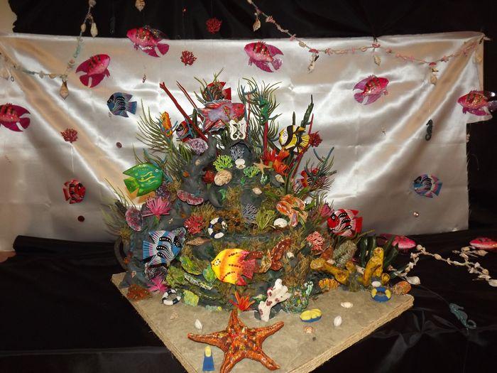 Décoration fait main fleurs en papier de soie 5