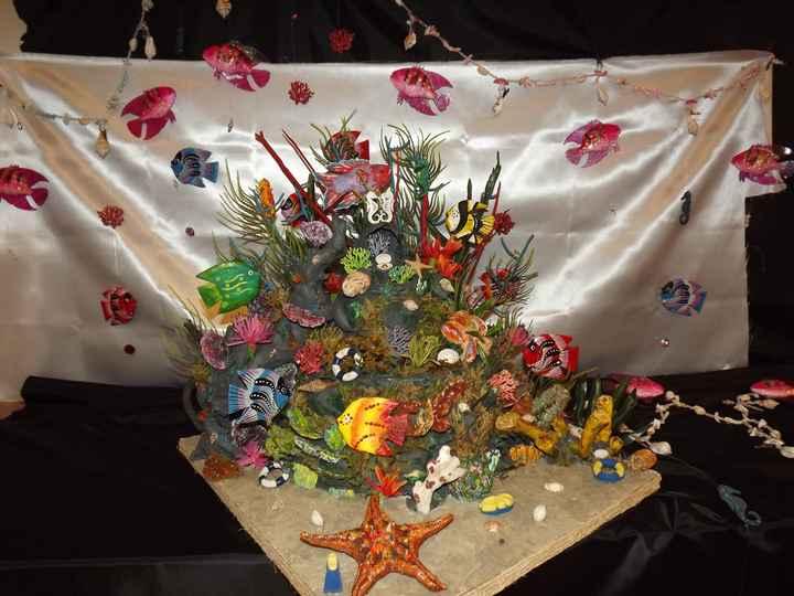 Décoration fait main fleurs en papier de soie - 1