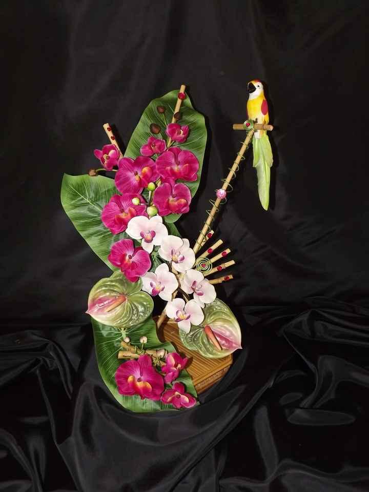 Décoration fait main fleurs en papier de soie - 3