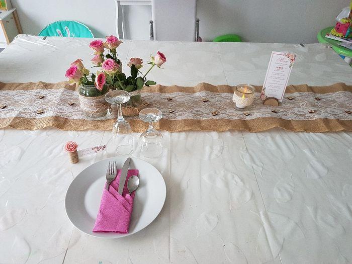 Essai déco table thème champêtre 1