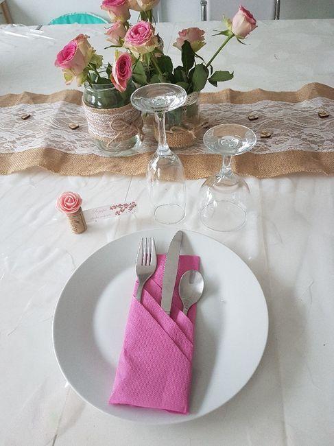 Essai déco table thème champêtre 3