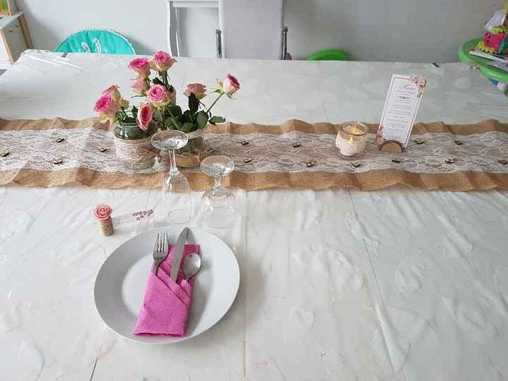 Essai déco table thème champêtre - 1