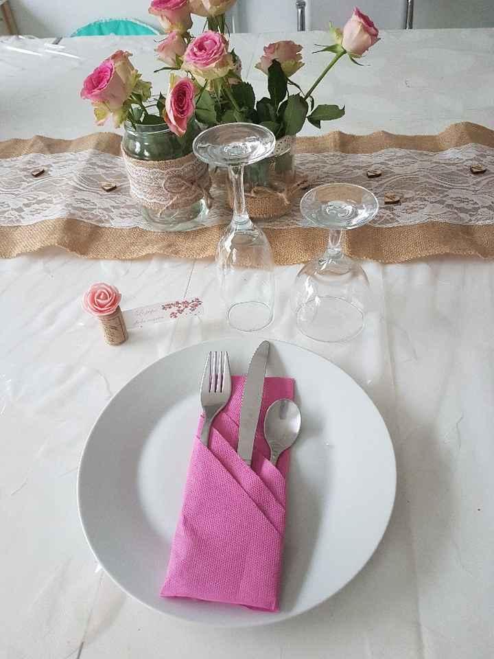 Essai déco table thème champêtre - 3