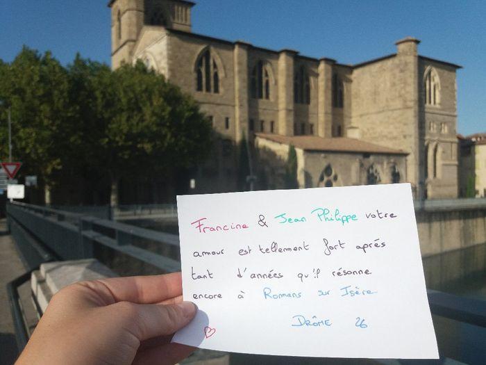 Love note Julie et Julien, Chloé et britany, claire et Ludovic, Anthony et aurore, Francine et Jean Philippe, Franck 2