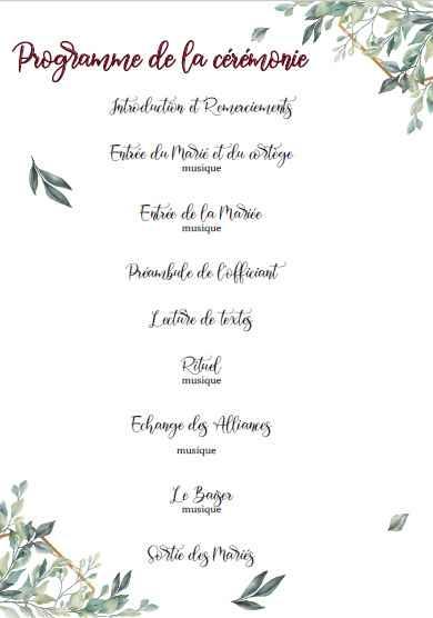 Evantail cérémonie laïque - 2