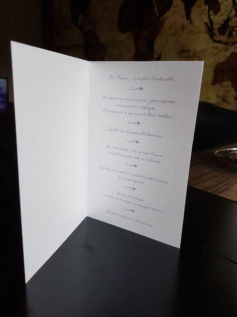 Mes menus - 1