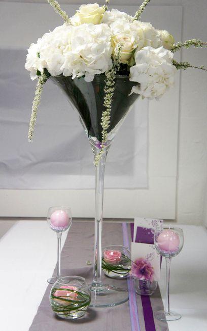 co t d 39 un centre de table avec vraies fleurs d coration forum. Black Bedroom Furniture Sets. Home Design Ideas