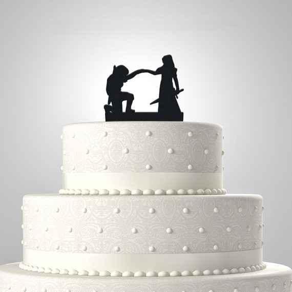 Cake topper Zelda et Link