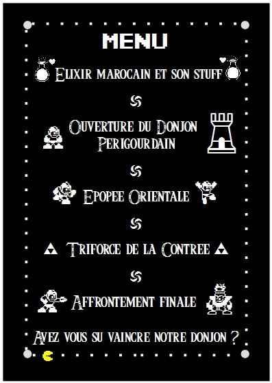 Maquette menu