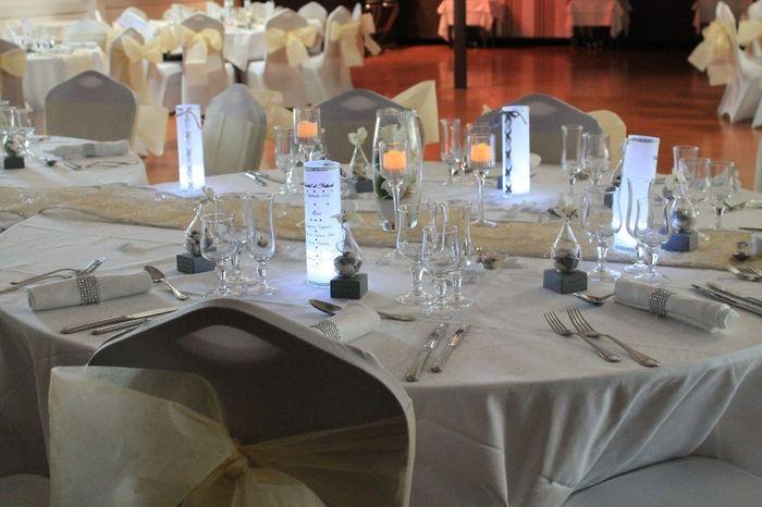 D co avec bougies photo c r monie de mariage - Decoration avec des bougies ...
