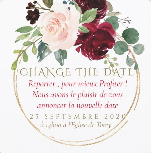 Idées Change the Date 2