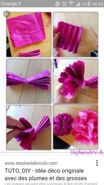 Guirlandes de fleurs en papier crépon, comment les faire . 7115b135732