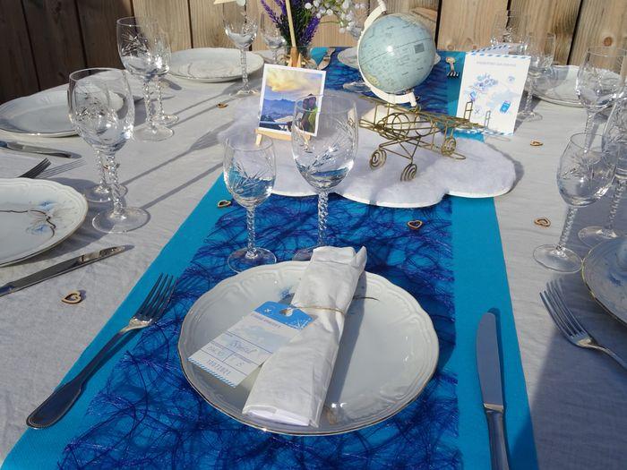 Notre centre de table thème voyage 3