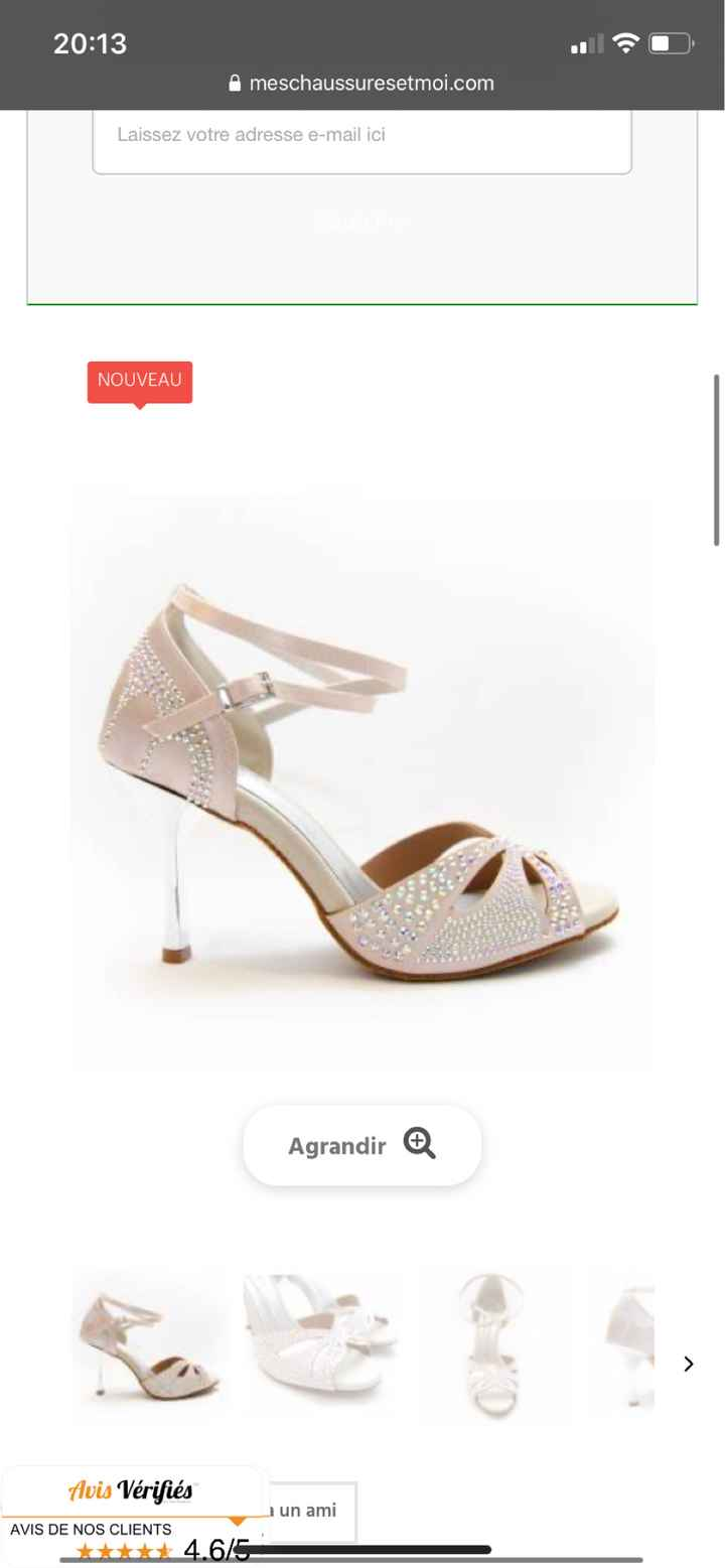 Chaussures blanches à paillettes - 1