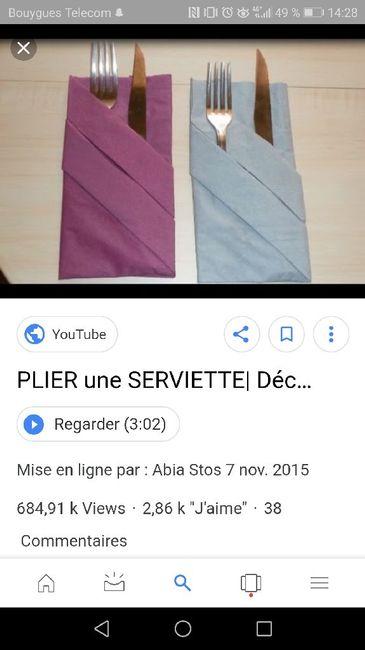 Problème pliage serviette - 1