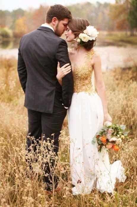 Robe mariée dorée