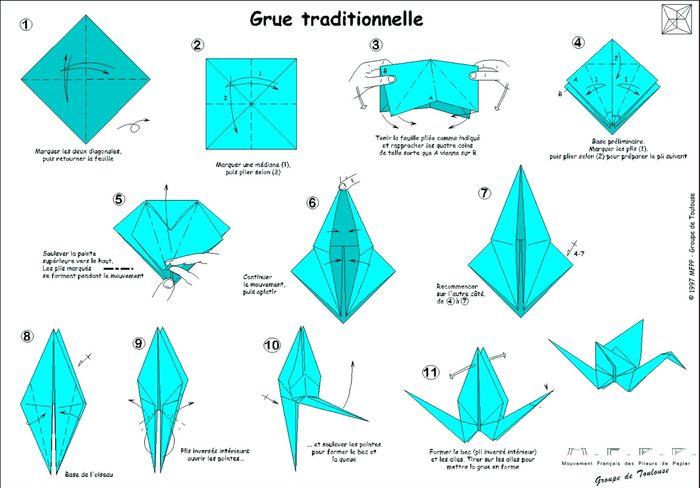 tuto origami grue photo. Black Bedroom Furniture Sets. Home Design Ideas