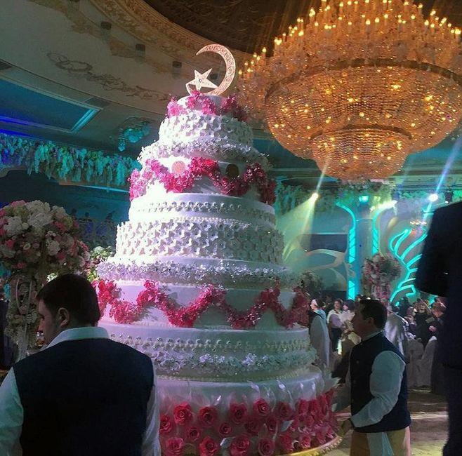 mariage russe à 1 millions de dollars: le gateau