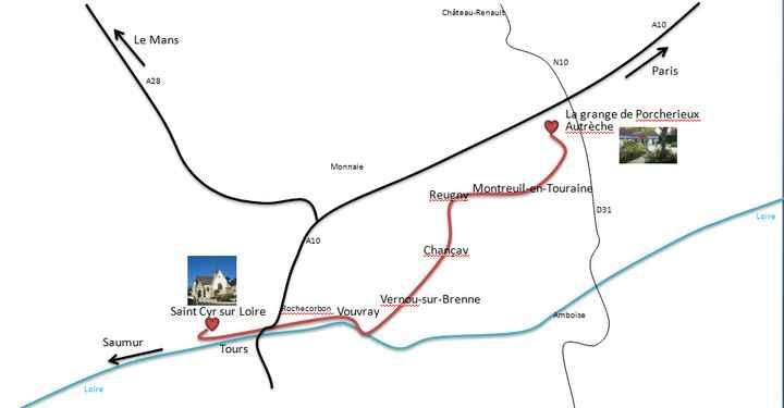 Plan / itinéraire