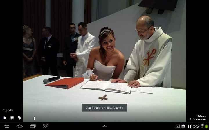 signatures des registres a l'église