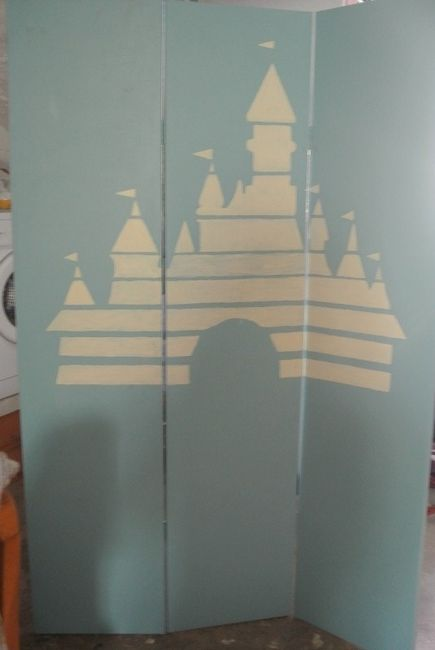 paravent  château dessin animé Disney